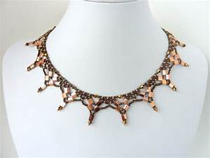 Free Beading Pattern For Necklace Tila Netting