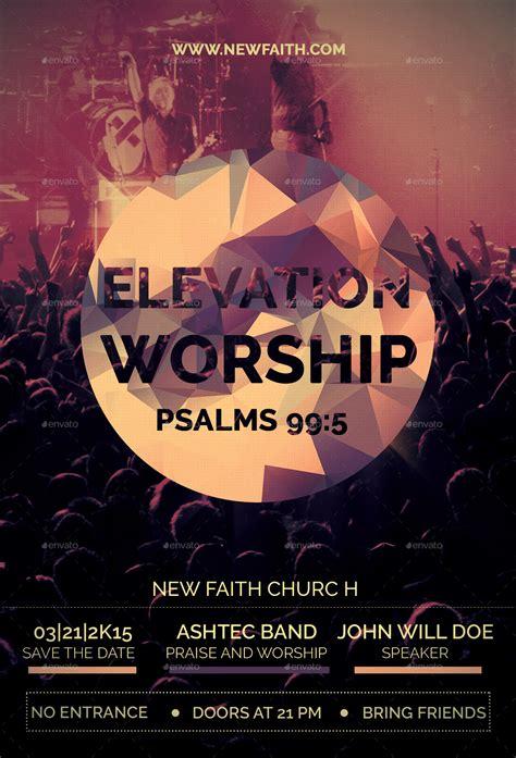 elevation worship church flyer  reindesignstudio