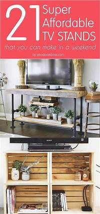 tv stand ideas 21 Affordable DIY TV Stand Ideas You Can Build In a Weekend