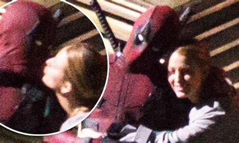 Blake Lively kisses Ryan Reynolds on Deadpool 2 set