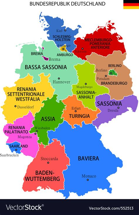 germany map royalty  vector image vectorstock