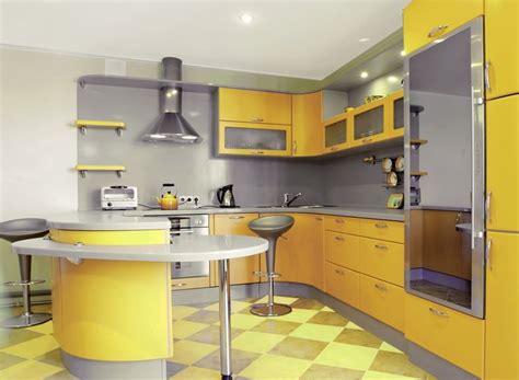 cuisine jaune déco cuisine jaune et gris