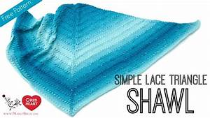 How To Knit Simple Lace Triangle Shawl