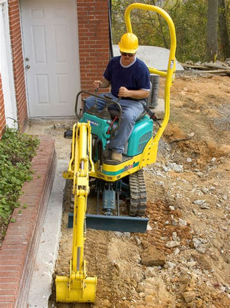canberra mini diggers tight access  residential earthworks