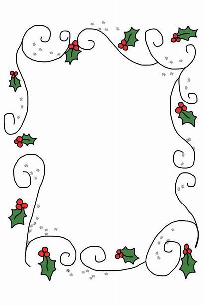Christmas Border Printable Borders Clipart Holly Letter