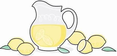 Lemonade Clipart Tea Pitcher Iced Lemons Gives