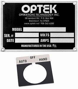 electrical panel labels and nameplates o oem panels With electrical panel nameplates