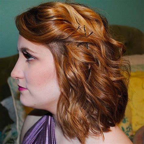 just add waves to transform medium hair for a formal event