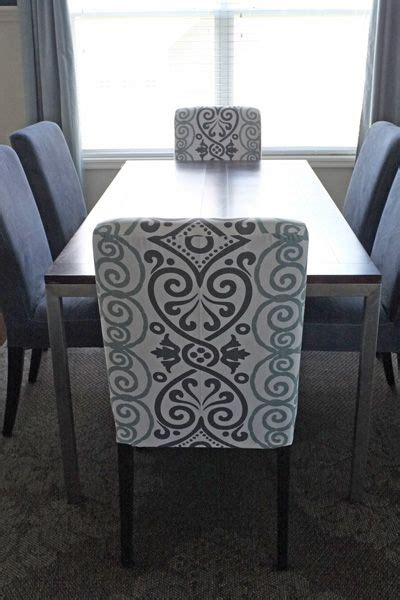 diy dining chair slipcovers   tablecloth