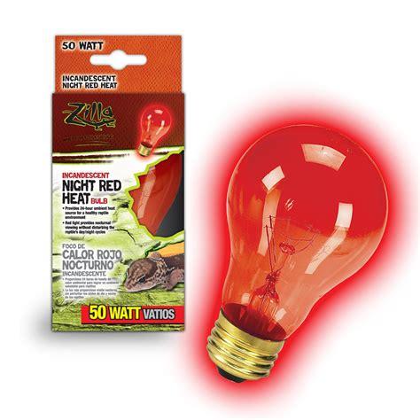 reptile heat l bulb zilla night red heat incandescent bulb 50 watts petco