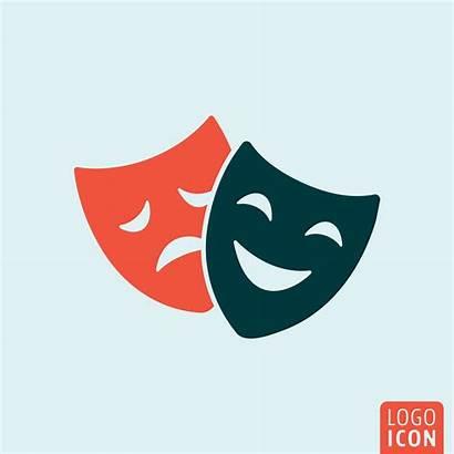 Mask Icon Theater Vector Symbol Theatre Clipart