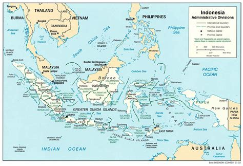 large detailed administrative map  indonesia indonesia