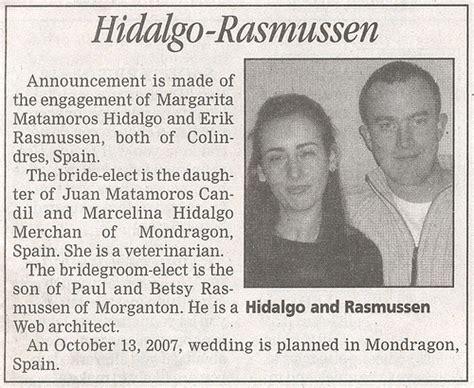 Wedding Announcement In Newspaper