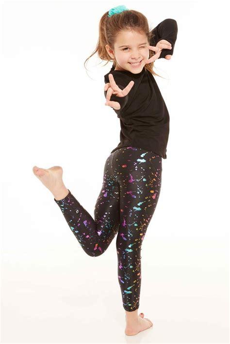 terez synthetic kids rainbow foil leggings lyst