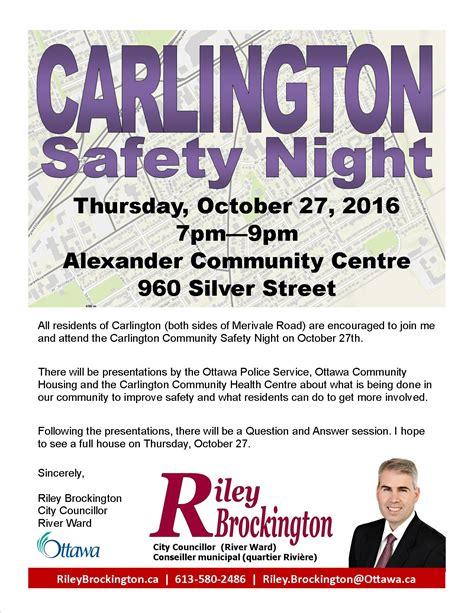 carlington safety night
