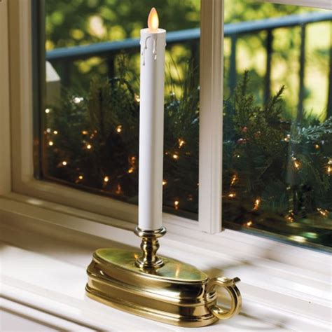 set of 2 luminara window candle battery operated 12 inch