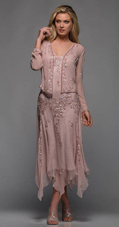 Scala Hanky Hem Mother Of The Bride Dress 25395 French