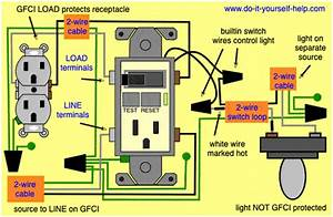 Gfci Switch Outlet Wiring Diagrams