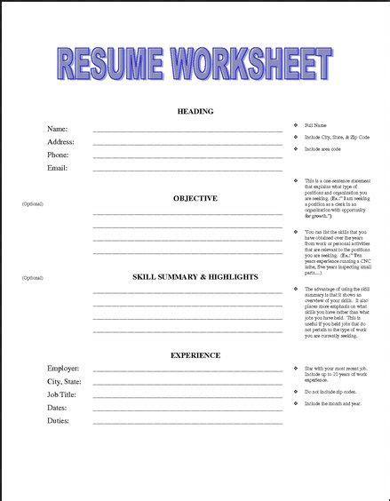 Printable Resume Worksheet Free  Httpjobresumesample. Skills In Marketing Resume. Supervisor Resume Sample Free. Resume Graphic. Help Me Build A Resume For Free. Resume Format For Banking. Format Of Sending Resume Through Email. Personal Resume Sample. Sample Resume Engineer
