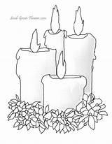 Coloring Candle Bing Candles Printable Drawing Printables Templates Winter Burning Sheets Sheet Navidad Adult Para Colorear Colors Colouring Páginas Birthday sketch template