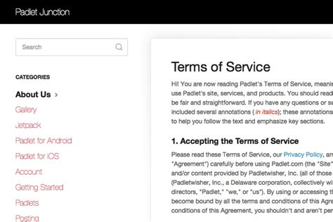 terms  service template generator