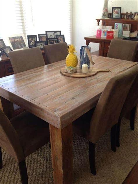 diy custom built pallet dining table ideas  pallets