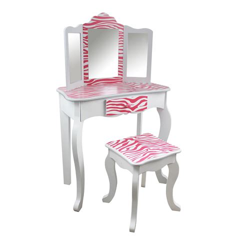 toddler vanity table teamson fashion prints vanity table and stool
