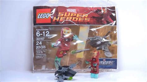 lego iron man  fighting drone polybag review  youtube
