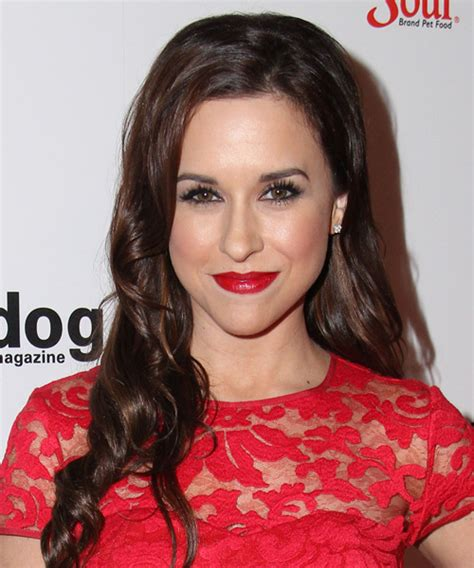 lacey chabert formal long wavy hairstyle dark chocolate