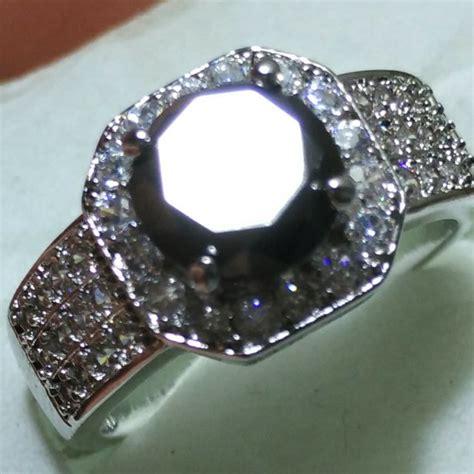 jual natural berlian hitam asli black ikat perak mewah memo lab mgl di lapak roller