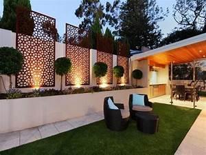 brise vue jardin et deco en acier corten 30 idees splendides With deco de jardin exterieur 1 deco entree chic