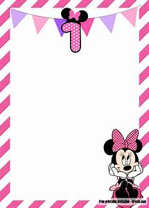 Invitation Templates For Birthday Party Free Minnie Mouse 1st Birthday Invitation Templates Free