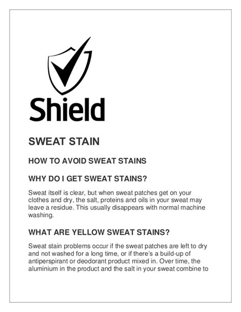 how to avoid sweat stains