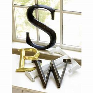 Decorative letters driven by decor for Letter plaques