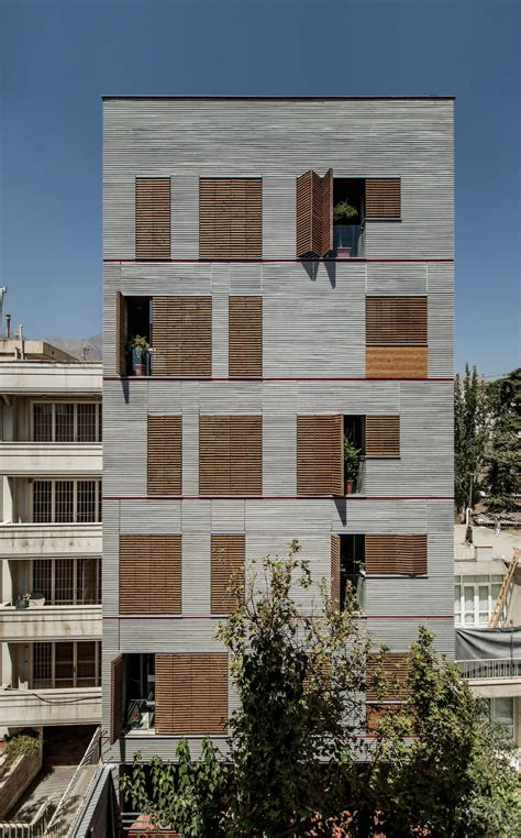 Residential Sheds by Andarzgoo Residential Building Ayeneh Office Archdaily