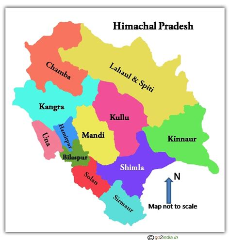 goindiain himachal pradesh map showing districts