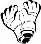 Gloves Winter Coloring Leather Season Sheet sketch template