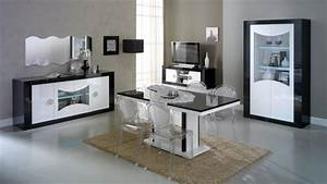salle a manger design lumineuse noire et blanche nevis With salle a manger noire et blanche