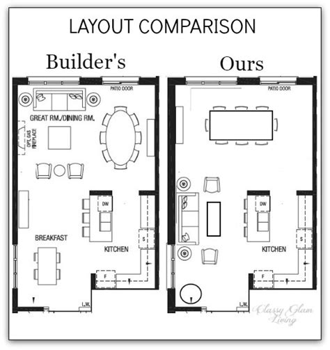 kitchen dining room floor plans house plans with large living rooms home design and style 8041