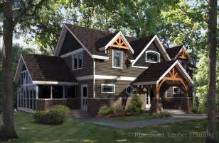 a frame house plans with garage cattail lodge timber frame home floor plan