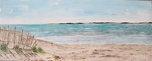 Tableaux Mer Et Plage : tableau peinture mer sable plage rivage face a la mer ~ Teatrodelosmanantiales.com Idées de Décoration