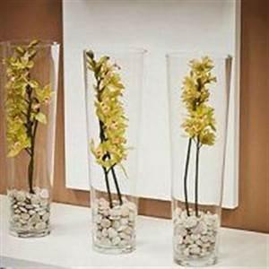 grands vases en verre fleurs tropicales recherche google With comment realiser un jardin zen 15 comment decorer vase avec sable