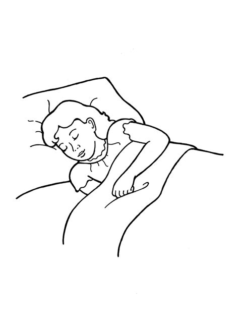 clipart girl sleeping  bed clipground