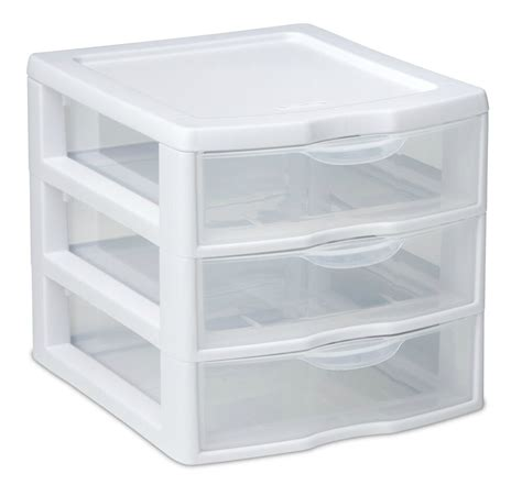Drawer Containers by 3 Drawer Organizer Mini Unit Small Pieces Storage White