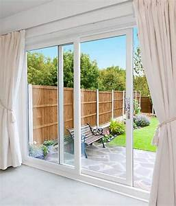 White Patio Doors  2 Pane Upvc Sliding