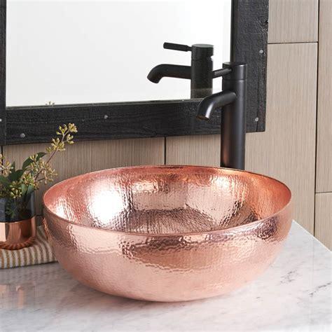 maestro  copper vessel bathroom sink native