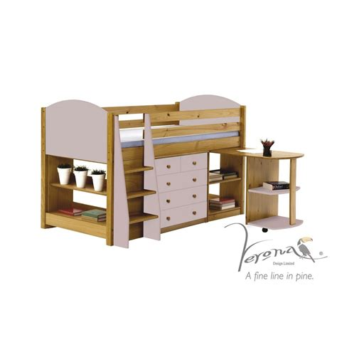 Buy Bedroom Set by Buy The Verona Antique Finish Pine Pink Midsleeper Bedroom