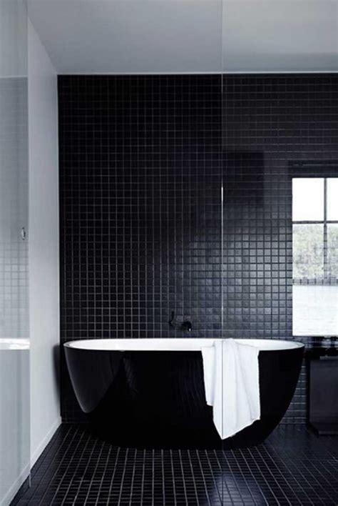 Piastrelle Bagno Nere Bagno Con Pavimenti E Rivestimenti In Mosaico 100 Idee