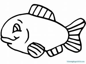 Simple Clown Fish Coloring Pages | Coloring Pages For Kids