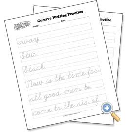 cursive writing worksheet generator  images
